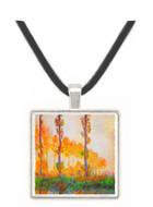 Claude Monet - Poplars in Autumn II -  Museum Exhibit Pendant - Museum Company Photo