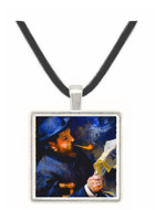 Claude_Monet_Reading_A_Newspaper -  Museum Exhibit Pendant - Museum Company Photo