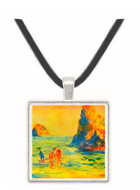 Cliffs at Guernsey by Renoir -  Museum Exhibit Pendant - Museum Company Photo