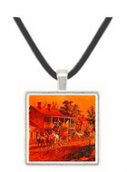 Coach Coming around the Bend - Edward Lamson Henry -  Museum Exhibit Pendant - Museum Company Photo