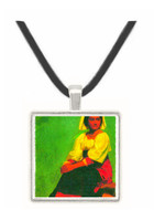 Costume study of a seated woman by Bierstadt -  Museum Exhibit Pendant - Museum Company Photo