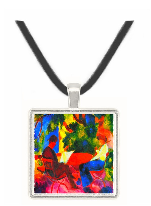 Couple at the garden table by Macke -  Museum Exhibit Pendant - Museum Company Photo