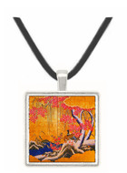 Couple of Wild Ducks in Snow Landscape with Bird - nknown artis -  Museum Exhibit Pendant - Museum Company Photo