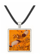 Cranes and Flowers - Lang Shih ning -  Museum Exhibit Pendant - Museum Company Photo