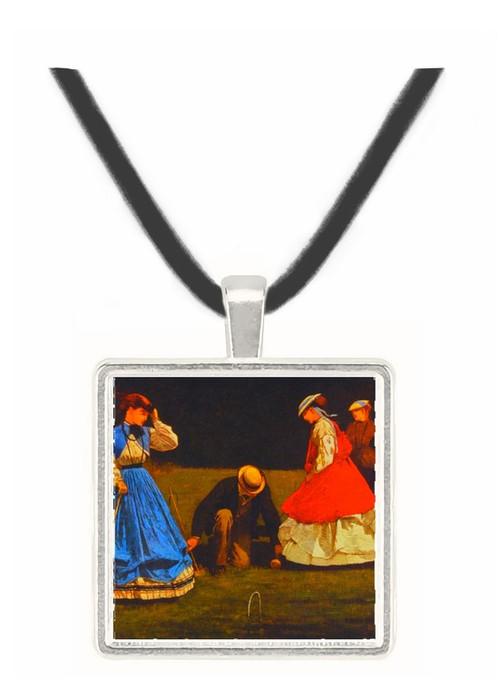Croquet Scene Winslow Homer -  Museum Exhibit Pendant - Museum Company Photo