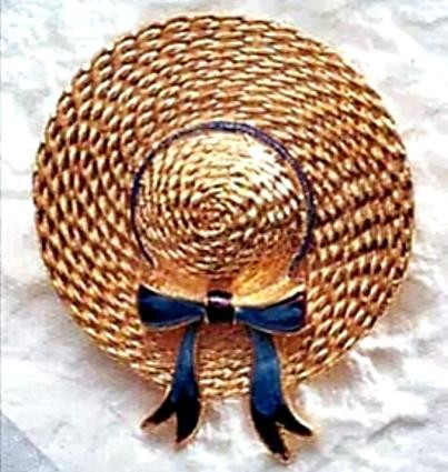 Straw Hat Brooch, 19th Century - Inspired by the art of Pierre Auguste Renoir - Photo Museum Store Company