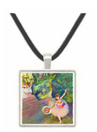 Dancer with a bouquet of flowers (The star of the ballet) by Degas -  Museum Exhibit Pendant - Museum Company Photo