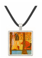Dead Man Kneeling Beside a Palm Tree Drinking -  Museum Exhibit Pendant - Museum Company Photo