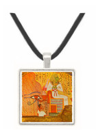 Dead Man Kneels beside Osiris - Tomb of Nakht -  Museum Exhibit Pendant - Museum Company Photo