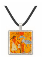 Dead Man Standing in Barge of the Sun Worshipping... -  Museum Exhibit Pendant - Museum Company Photo