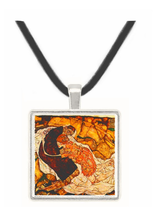 Death and the Woman by Schiele -  Museum Exhibit Pendant - Museum Company Photo