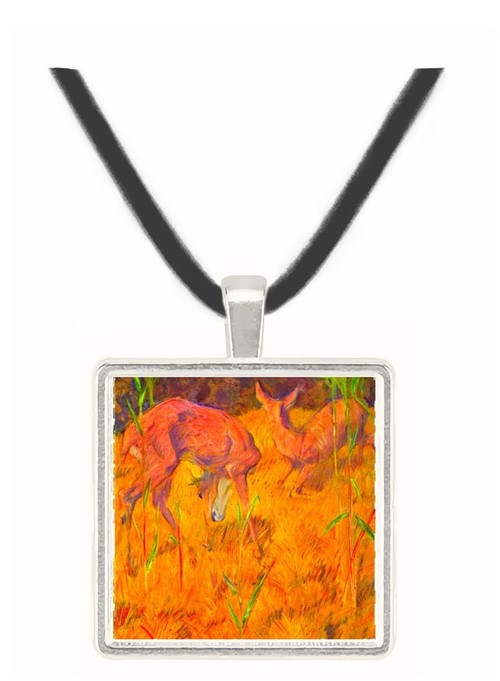 Deer in the reed by Marc -  Museum Exhibit Pendant - Museum Company Photo