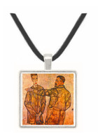Double Portrait of Heinrich Bensch and his Son Otto by Schiele -  Museum Exhibit Pendant - Museum Company Photo