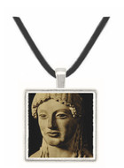Draped Female Statue - Greek - Museum of the Acropolis -  -  Museum Exhibit Pendant - Museum Company Photo