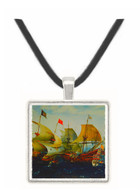 Dutch and English Warships in Battle... - Aart van Antum -  Museum Exhibit Pendant - Museum Company Photo