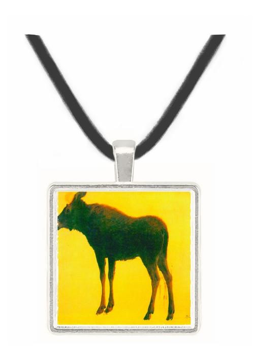 Elk by Bierstadt -  Museum Exhibit Pendant - Museum Company Photo