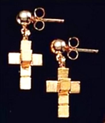 Dali Hypercube Earrings - Inspired by he collection of The Salvador Dali Museum - Photo Museum Store Company