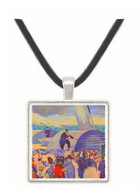 Embarkation of the Folkestone by Manet -  Museum Exhibit Pendant - Museum Company Photo