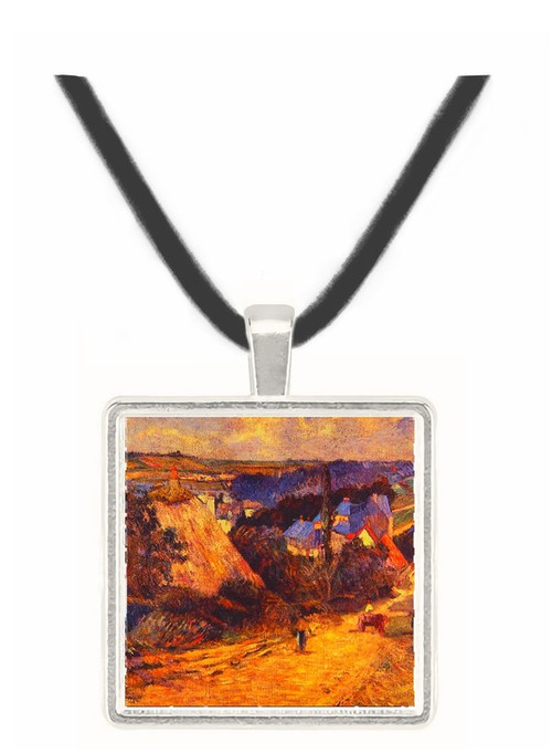 Entrance to a Village - Paul Gauguin -  Museum Exhibit Pendant - Museum Company Photo