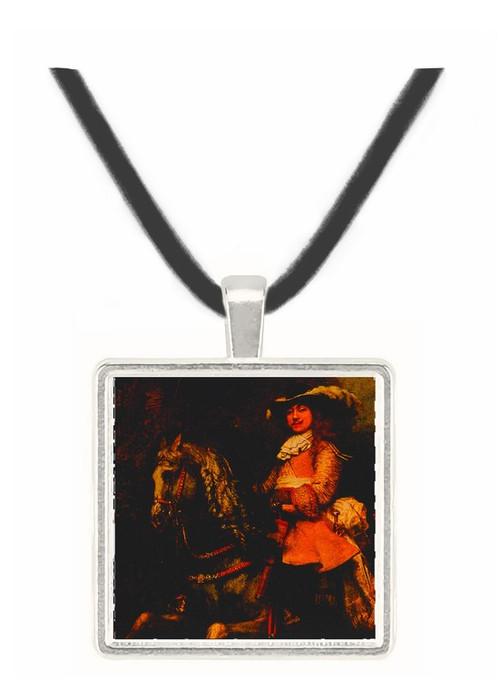 Equestrian Portrait (detail) - Rembrandt Harmenszoon van Rijn -  Museum Exhibit Pendant - Museum Company Photo