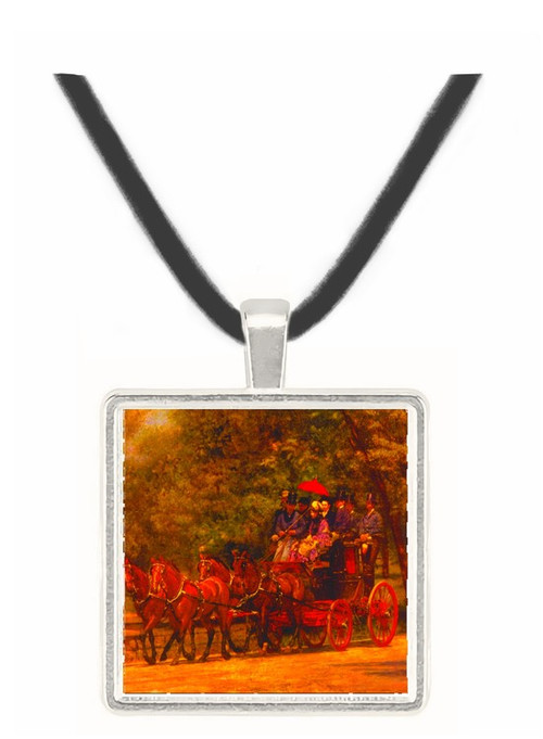 Fairman Rogers Four in Hand - Thomas Eakins -  Museum Exhibit Pendant - Museum Company Photo