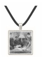 Family evening by Seurat -  Museum Exhibit Pendant - Museum Company Photo
