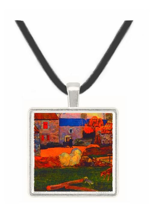 Farm at the Pouldu - Paul Gauguin -  Museum Exhibit Pendant - Museum Company Photo