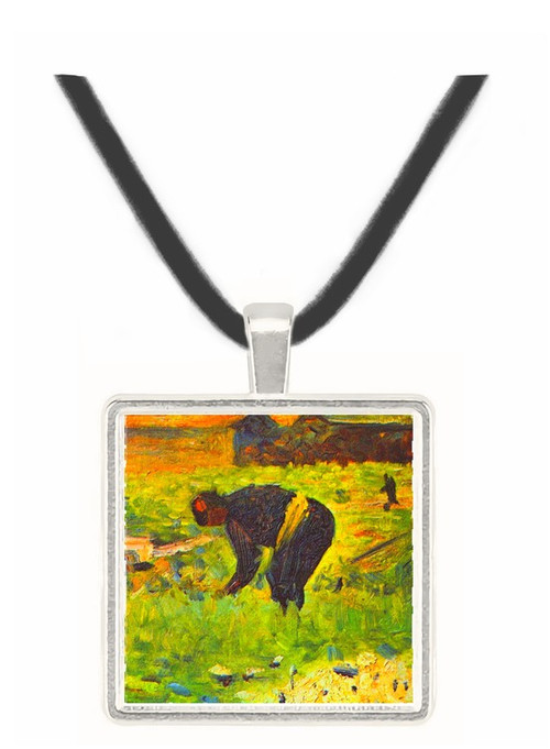 Farmer at work by Seurat -  Museum Exhibit Pendant - Museum Company Photo
