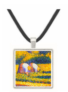 Farmers at work by Seurat -  Museum Exhibit Pendant - Museum Company Photo