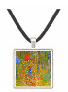 Farmers garden with crucifix by Klimt -  Museum Exhibit Pendant - Museum Company Photo