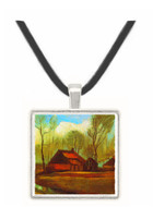 Farmhouses Among Trees -  Museum Exhibit Pendant - Museum Company Photo