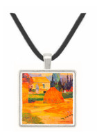 Farmhouses in Arles by Gauguin -  Museum Exhibit Pendant - Museum Company Photo