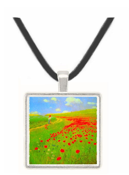 Field of Poppies by Merse -  Museum Exhibit Pendant - Museum Company Photo