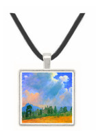 Fir trees and storm clouds by Bierstadt -  Museum Exhibit Pendant - Museum Company Photo