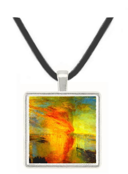 Fire at the Parliament building in 1834 by Joseph Mallord Turner -  Museum Exhibit Pendant - Museum Company Photo