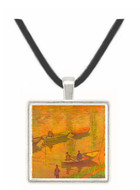 Fishermen on the Seine at Poissy by Claude_Monet -  Museum Exhibit Pendant - Museum Company Photo