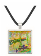 Fishermen on the Seine at Poissy by Monet -  Museum Exhibit Pendant - Museum Company Photo