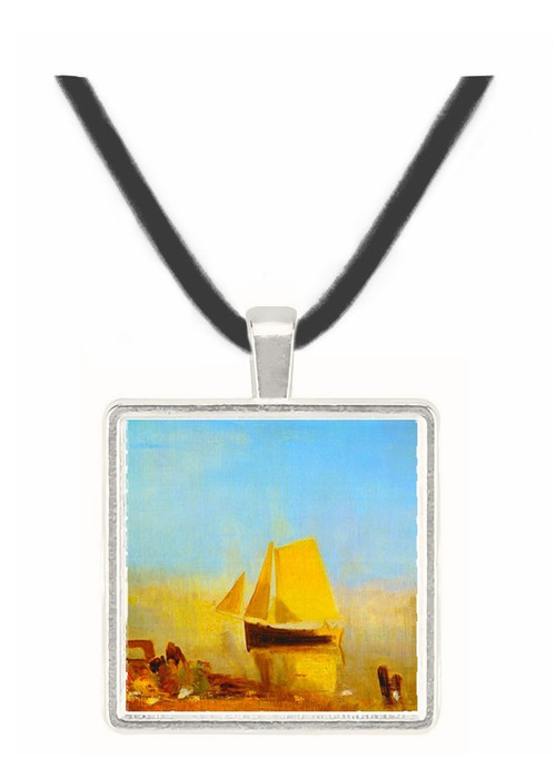 Fishing boat in a mist by Joseph Mallord Turner -  Museum Exhibit Pendant - Museum Company Photo