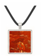Fishing on a Snowy Day - unknown artist -  Museum Exhibit Pendant - Museum Company Photo