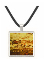 Five Horses and Cow - Lascaux - Dordogne - France -  -  Museum Exhibit Pendant - Museum Company Photo