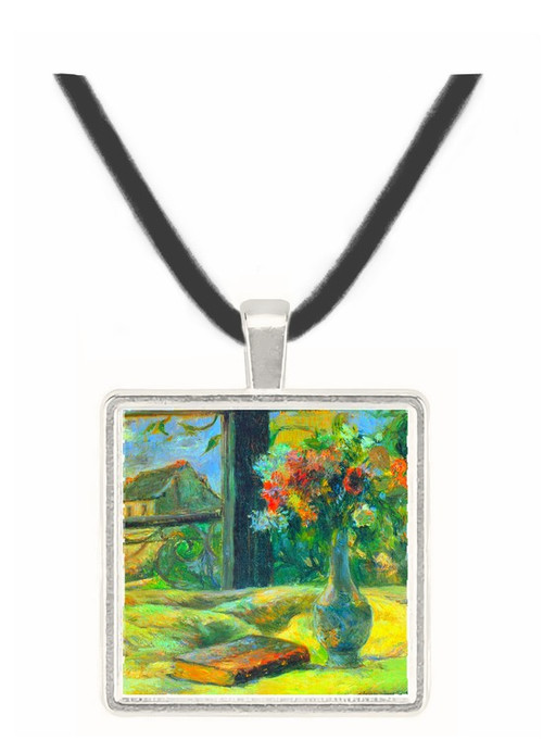 Flower Vase in Window by Gauguin -  Museum Exhibit Pendant - Museum Company Photo