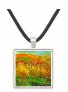 Flowering apple trees by Monet -  Museum Exhibit Pendant - Museum Company Photo