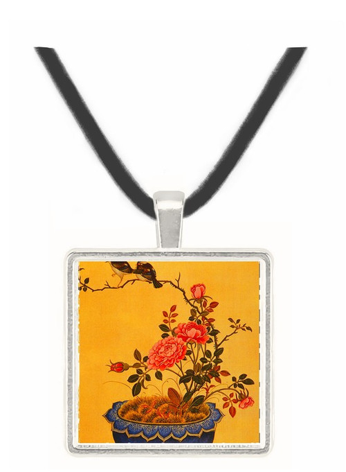 Flowers and Birds - unknown artist -  Museum Exhibit Pendant - Museum Company Photo