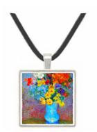 Flowers in a blue vase by Van Gogh -  Museum Exhibit Pendant - Museum Company Photo