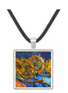 Four Sunflowes gone to Seed by Van Gogh -  Museum Exhibit Pendant - Museum Company Photo