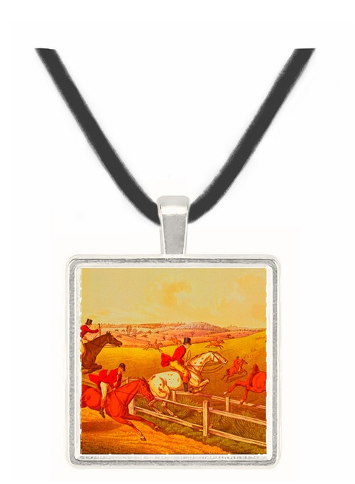 Fox Hunting - Henry Alken -  Museum Exhibit Pendant - Museum Company Photo