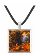 Frequented Forest Road - Jan Brueghel -  Museum Exhibit Pendant - Museum Company Photo