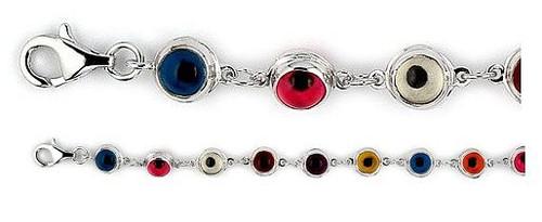 Glass Eyes - Small Multicolor Glass Eye Bracelet - Photo Museum Store Company