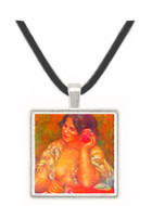 Gabriele with a rose by Renoir -  Museum Exhibit Pendant - Museum Company Photo
