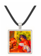 Gabrielle Jean and a girl by Renoir -  Museum Exhibit Pendant - Museum Company Photo